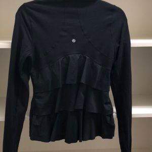 Lululemon Athletica black jacket with ruffled back